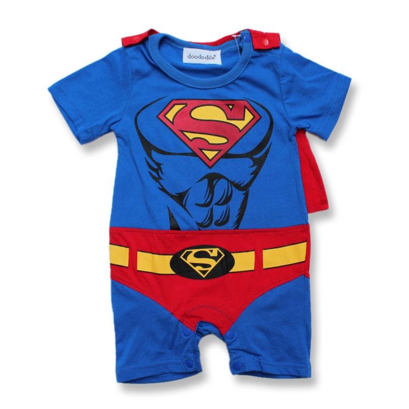 baby-rompertjes-superman-korte-mouw-roze-blauw-grijs-jongen-meisje-rompertjes-meisje-jurk-romper-baby-zomer_2