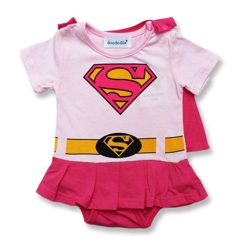 baby-rompertjes-superman-korte-mouw-roze-blauw-grijs-jongen-meisje-rompertjes-meisje-jurk-romper-baby-zomer_3
