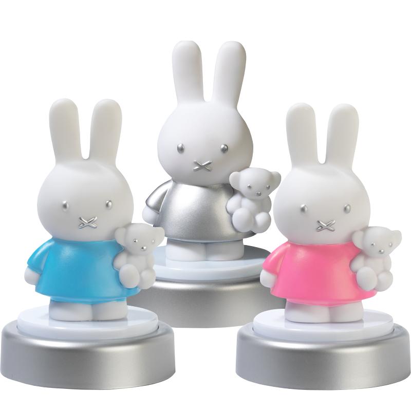 bambolino nachtlampje druklampje led zilver, blauw, roze